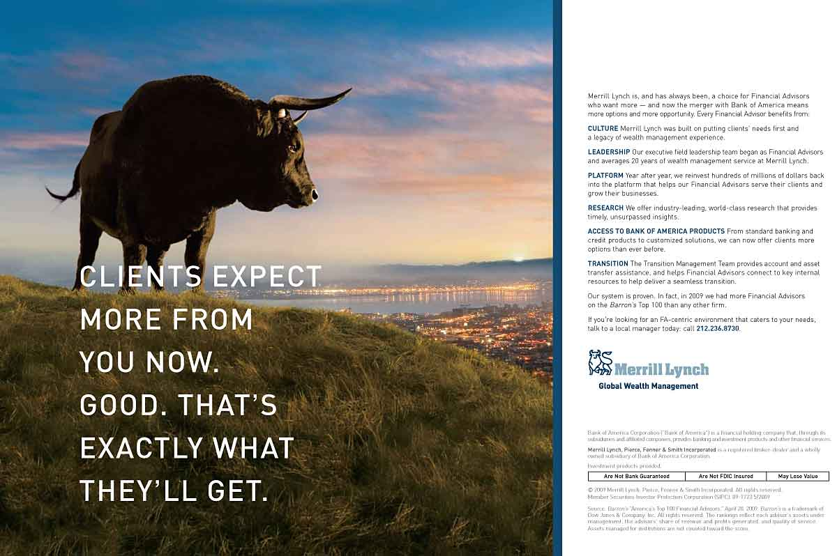 The Merrill Lynch Bull Charges Back, More Softly This Time