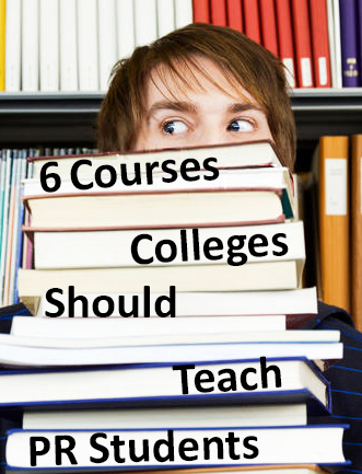 Public Relations should i capitalize college subjects