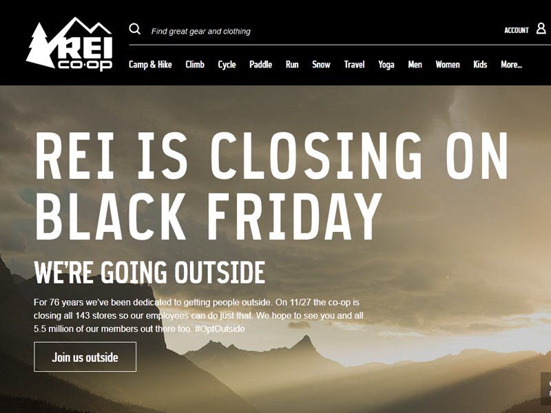 REI Cancels Black Friday. Great PR Follows.