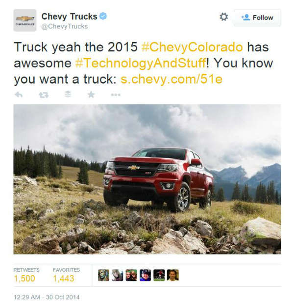 Chevy PR real-time marketing win