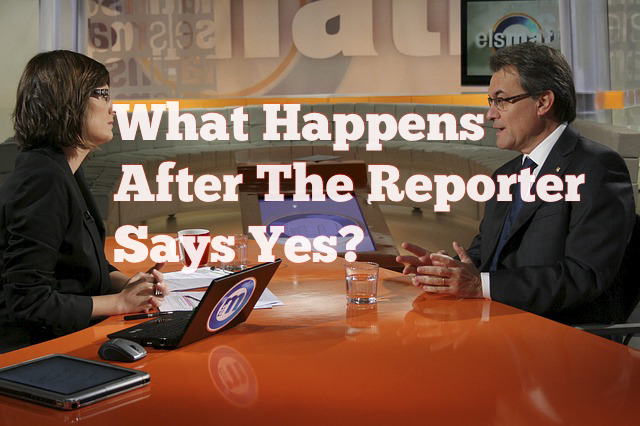 what happens after reporter says yes to a media placement?