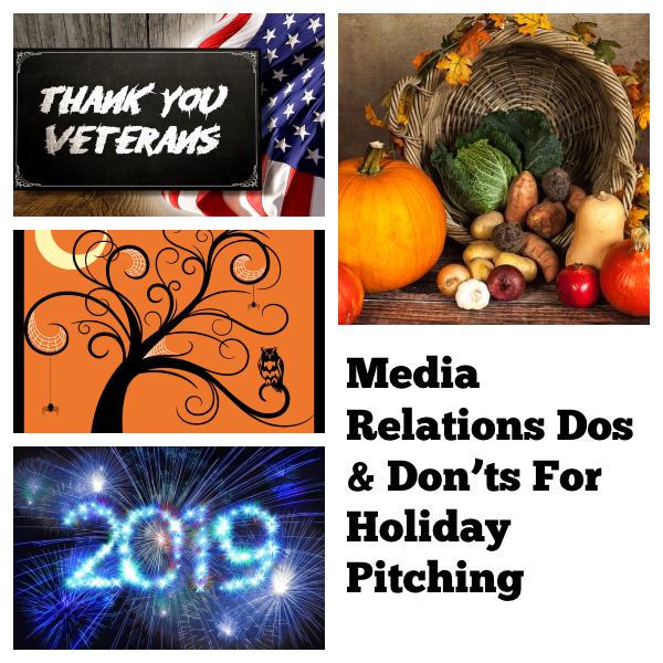 media relations dos and don'ts for Holiday Pitching
