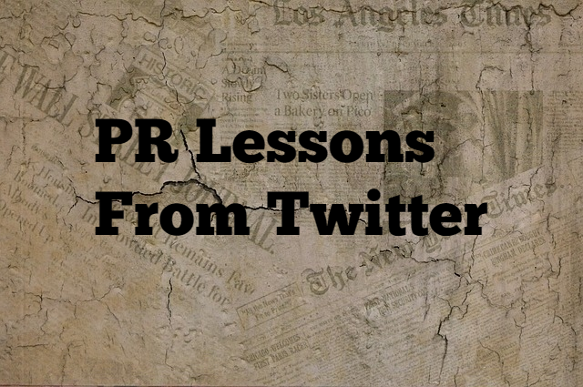 Pr lessons from Twitter