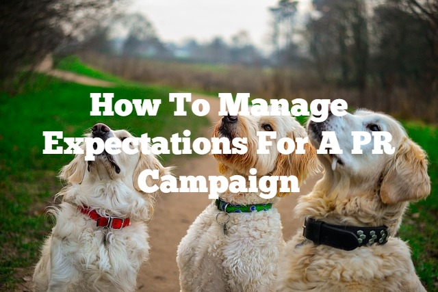 how to manage expectations for a PR campaign